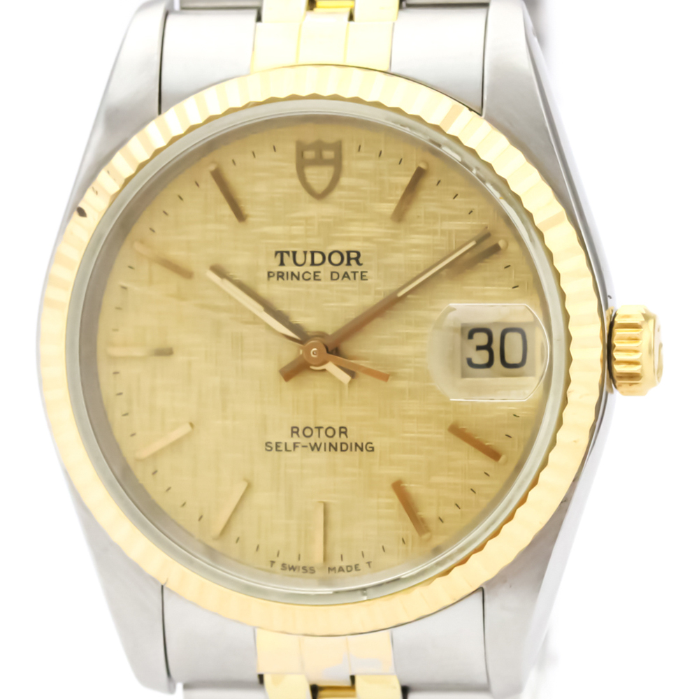 Tudor Prince Oyster Date Automatic Yellow Gold (18K),Stainless Steel Men's Dress Watch 74033