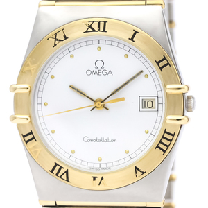 OMEGA Constellation 18K Gold Steel Quartz Watch 396.1070