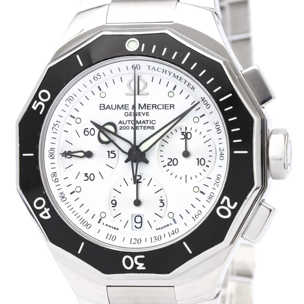 c47de4de0111 Detalles acerca de Pulido Baume   Mercier Riviera Cronógrafo Reloj Hombre  Acero MOA08724 BF326578- mostrar título original