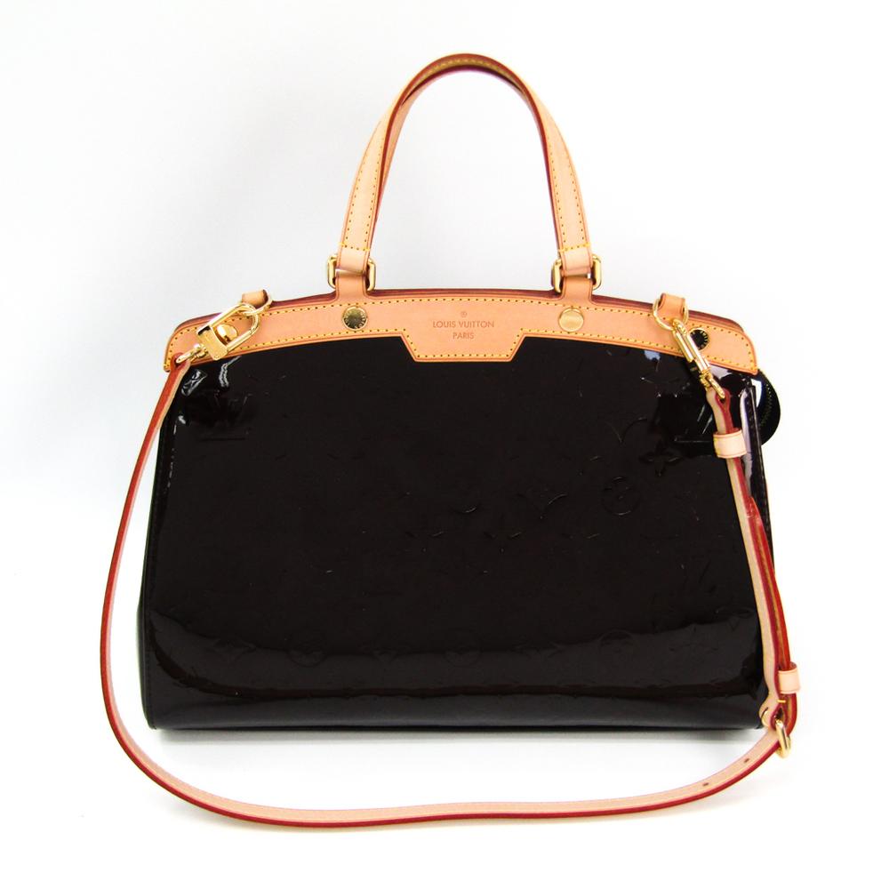 ルイ・ヴィトン(Louis Vuitton) モノグラムヴェルニ ブレアMM M91619 ハンドバッグ アマラント