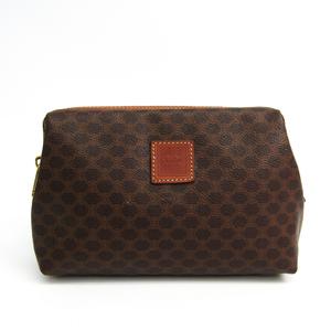 Celine Macadam Women's PVC,Leather Clutch Bag,Pouch Brown