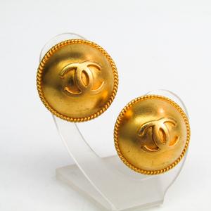 シャネル(Chanel) ココ メタル クリップイヤリング ゴールド