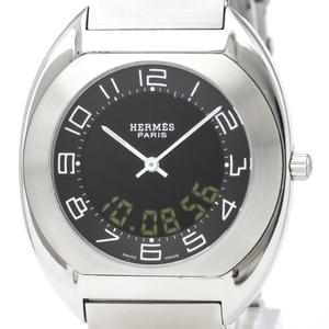 HERMES Espace Analog Digital Steel Quartz Mens Watch ES1.710