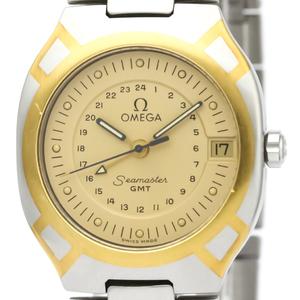 【OMEGA】オメガ シーマスター ポラリス GMT K18 ゴールド ステンレススチール クォーツ メンズ 時計 396.1122