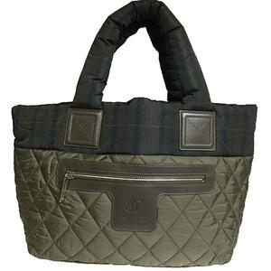 シャネル(Chanel) ココ・コクーン A48610 カーキ レディース ナイロン トートバッグ