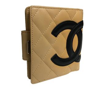 シャネル(Chanel) カンボン A26720 レディース カンボンライン 財布(二つ折り) ベージュ,ブラック