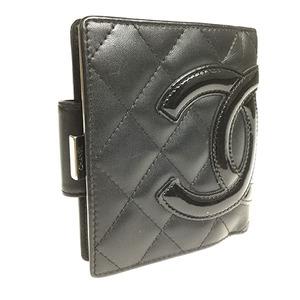 シャネル(Chanel) カンボン A26720 レディース  ラムスキン 財布(二つ折り) ブラック,ピンク