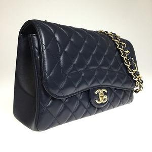 シャネル(Chanel) マトラッセ ラムスキン シングルフラップ チェーン ショルダーバック レディース