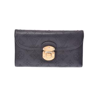 ルイ・ヴィトン(Louis Vuitton) M95549 マヒナ 長財布(三つ折り) ノワール