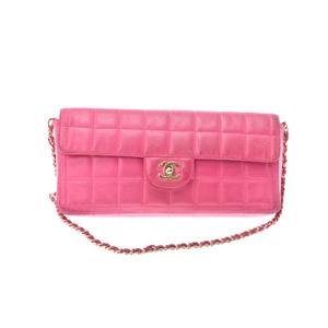 シャネル(Chanel) Shoulder bag レザー ショルダーバッグ ピンク