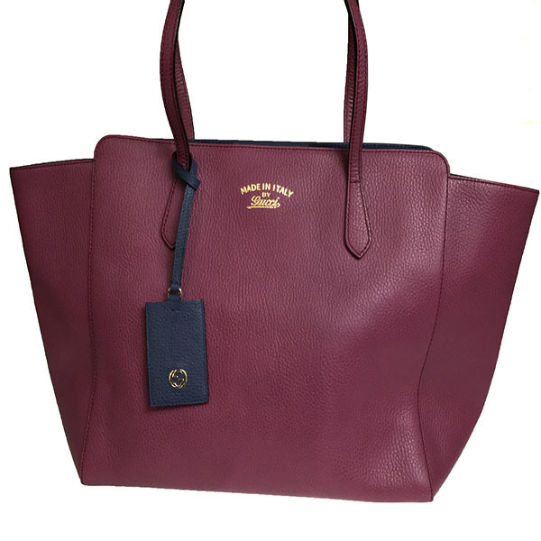 cfc382342065f3 Auth Gucci Gucci Swing 354397 Women's Leather Tote Bag Navy,Purple GU-000004