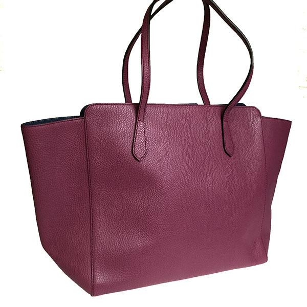 8e1f1f8cf7e059 Auth Gucci Gucci Swing 354397 Women's Leather Tote Bag Navy,Purple ...