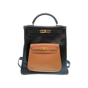 Hermes Kelly Women's  Backpack Natural,Black