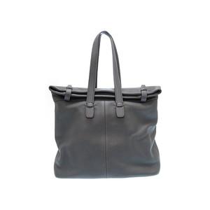 Hermes □C Men's Fjord Leather Tote Bag Graphite