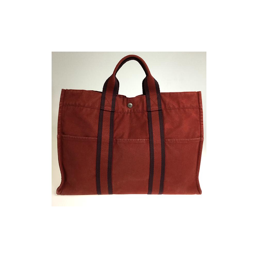 Hermes Fourre Tout MM Unisex Canvas Tote Bag