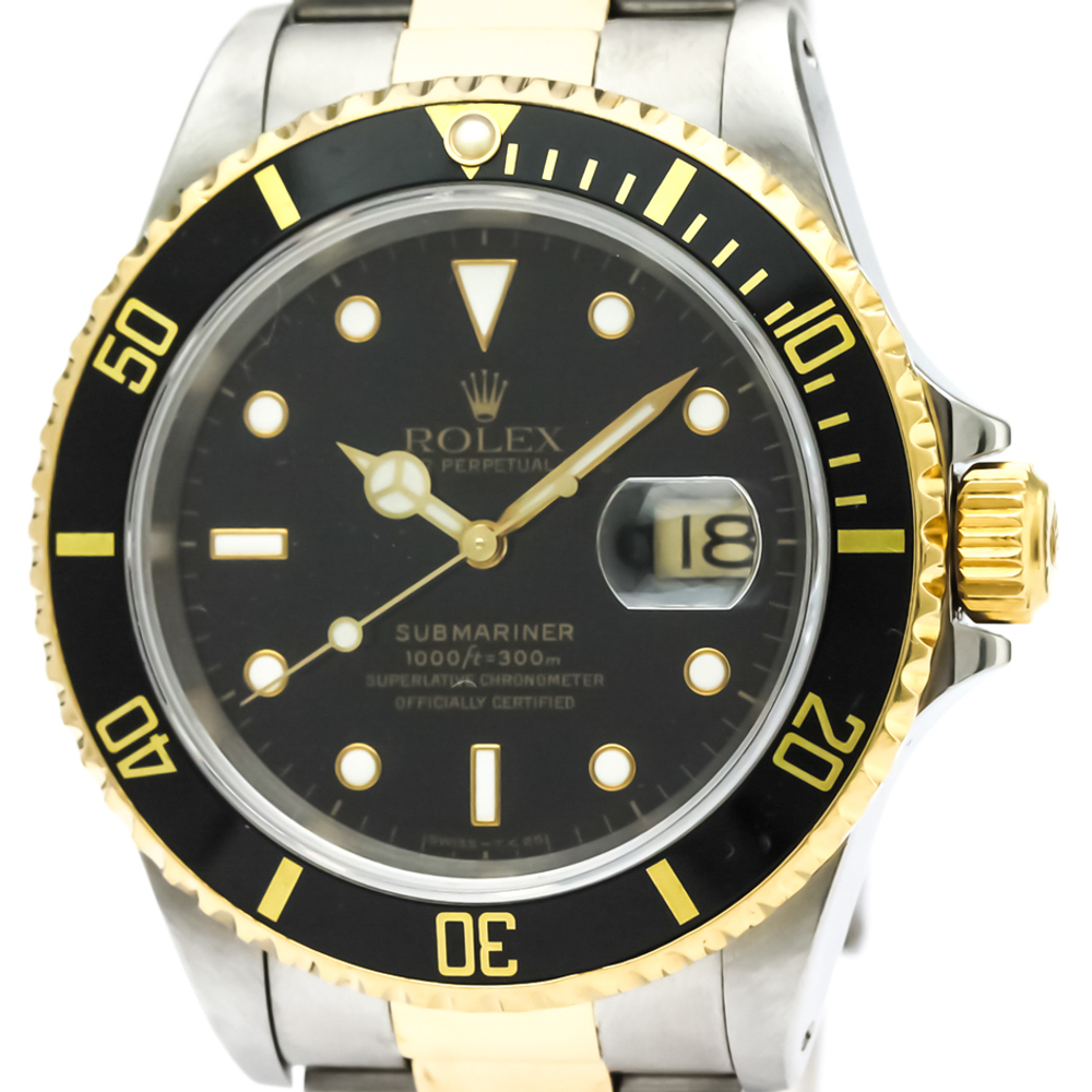 Rolex Submariner Automatic Stainless Steel,Yellow Gold (18K) Men's Sports Watch 16613