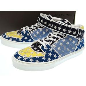 Louis Vuitton Men's Sneakers (Black,Blue,Yellow)