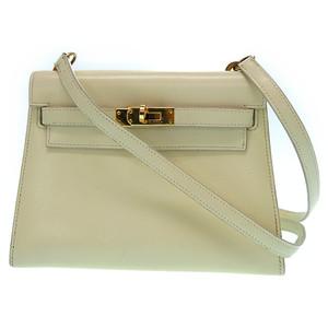 Hermes Kelly Women's Box Calf Leather Shoulder Bag Parchemin