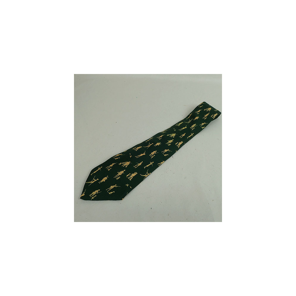 Auth Hermes Silk Tie Pattern hunting 9935A