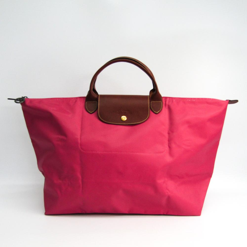 Longchamp Le Pliage L 1624 089 058 Women s Nylon,Leather Tote Bag Pink 5d5f17ab27