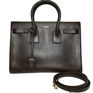 Saint Laurent 324823 サックドジュール SAC DE JOUR Women's Leather Handbag,Shoulder Bag Dark Brown