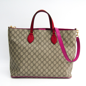 Gucci GG Supreme 453705 Women's GG Supreme,Leather Tote Bag GG Beige,Pink,Red