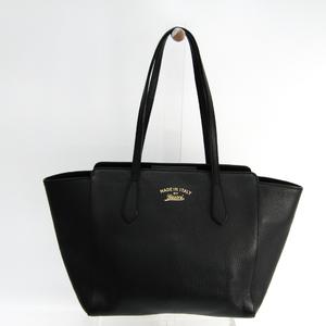 Gucci Gucci Swing 354408 Women's Leather Tote Bag Black