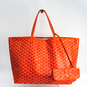 Goyard Saint Louis Women's Leather,Canvas Tote Bag Orange