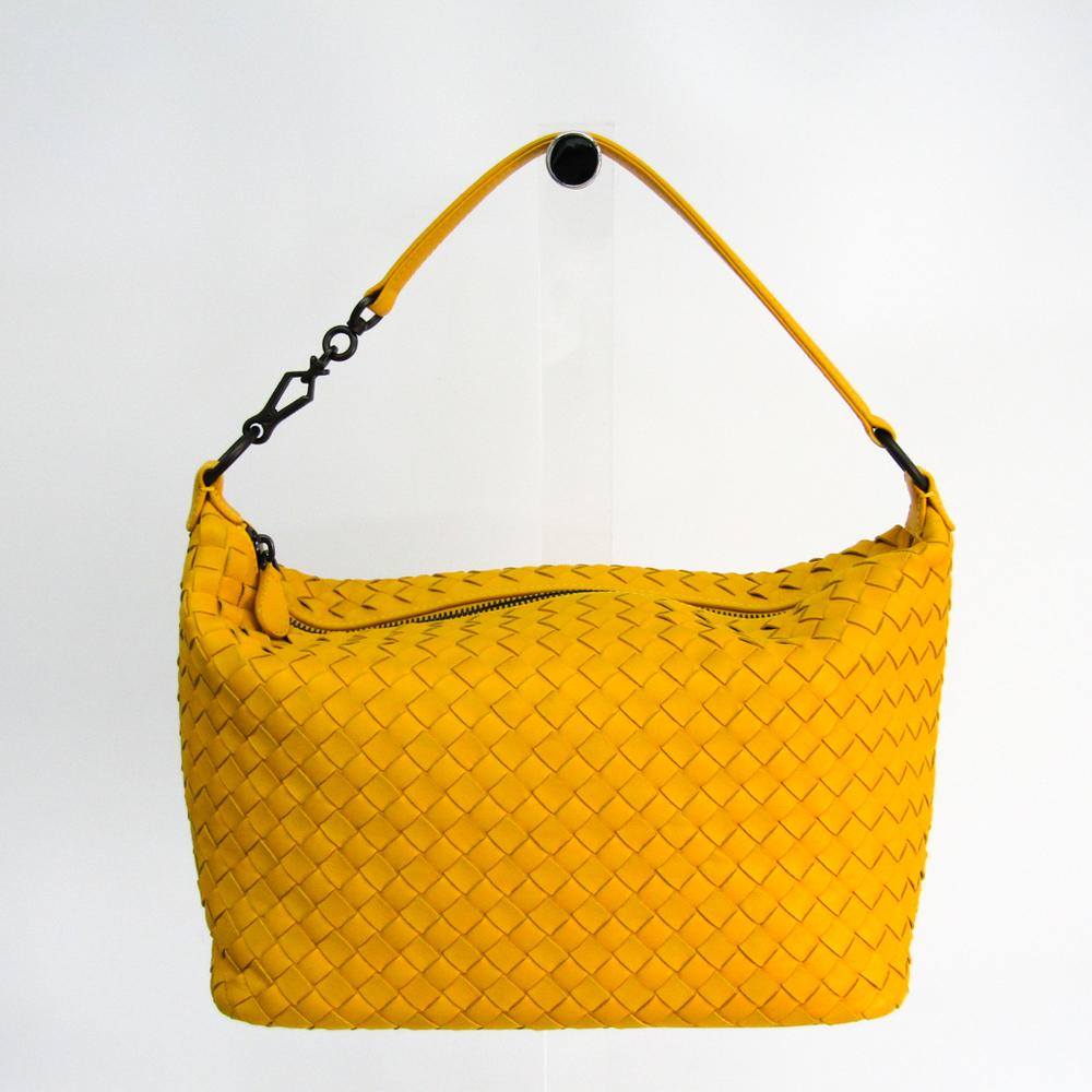 355a8ff7046 Bottega Veneta Intrecciato 239988 Women's Leather Shoulder Bag Yellow