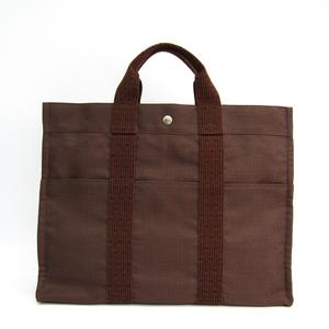 Hermes Her Line MM Men's Polyamide,Polyester Tote Bag Brown