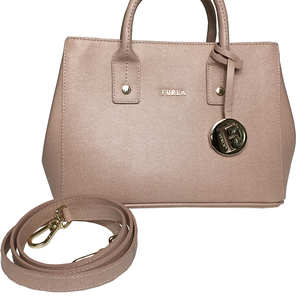 Furla Linda BHR 851066 B30 Mini Tote Bag Women's Leather Handbag,Shoulder Bag Pink