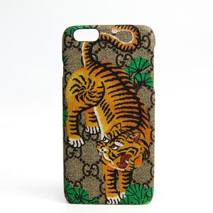 グッチ(Gucci) GGスプリーム カバー iPhone 6 Plus 対応 ベージュ,イエロー 451472