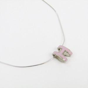 エルメス ポップアッシュ シルバー925,ラッカー ペンダントネックレス (ピンク,シルバー)