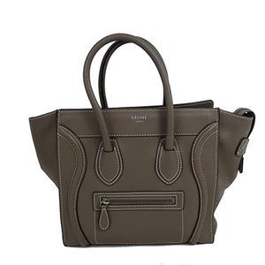 Auth Celine Luggage Micro Shopper Handbag