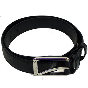 Auth Louis Vuitton Epi Men's Leather Belt Black 85cm M9694