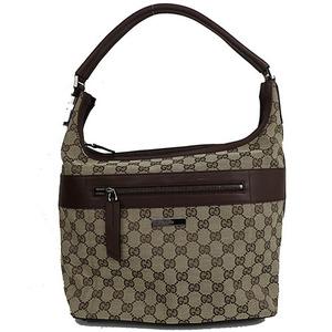 Auth Gucci GG Canvas Shoulder Bag/0014298