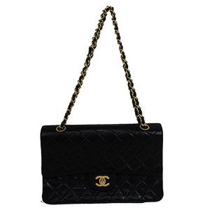 Auth Chanel Matelasse  Double Flap Double Chain /shoulder bag