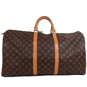 Auth Louis Vuitton Monogram Keepall55 M41424 Boston Bag