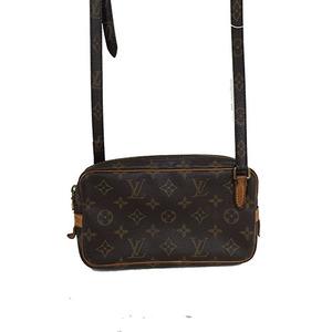 Auth Louis Vuitton Monogram Pochette Marly Bandoulie M51828