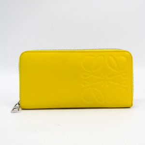 Loewe Anagram 106N54.F13 Women's  Cowhide Long Wallet (bi-fold) Yellow