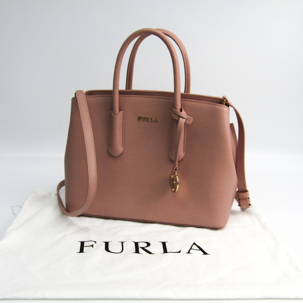 super specials on feet at best authentic Furla TESSA S Women's Leather Tote Bag Pale Pink | eLady.com