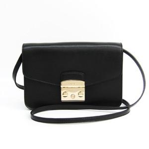 Furla Metropolis Women's Leather Shoulder Bag Black