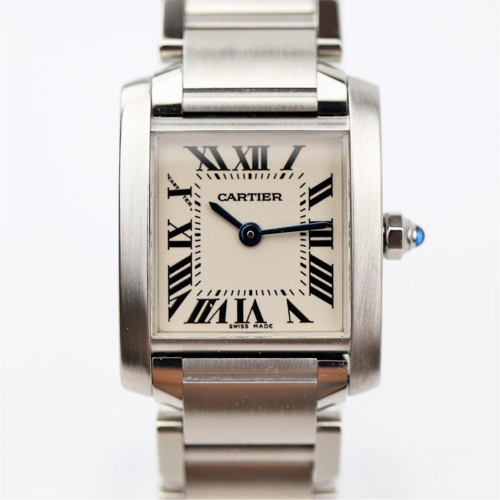 カルティエ(Cartier) タンクフランセーズ クォーツ ステンレススチール(SS) レディース ドレスウォッチ W51008Q3
