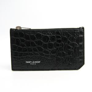 サン・ローラン(Saint Laurent) 458589 メンズ  型押しレザー 小銭入れ・コインケース ブラック
