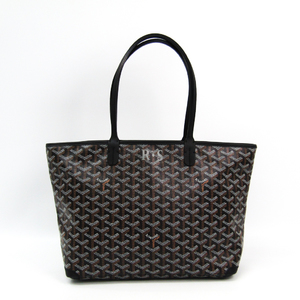 Goyard Artois PM Women's Canvas,Leather Tote Bag Black