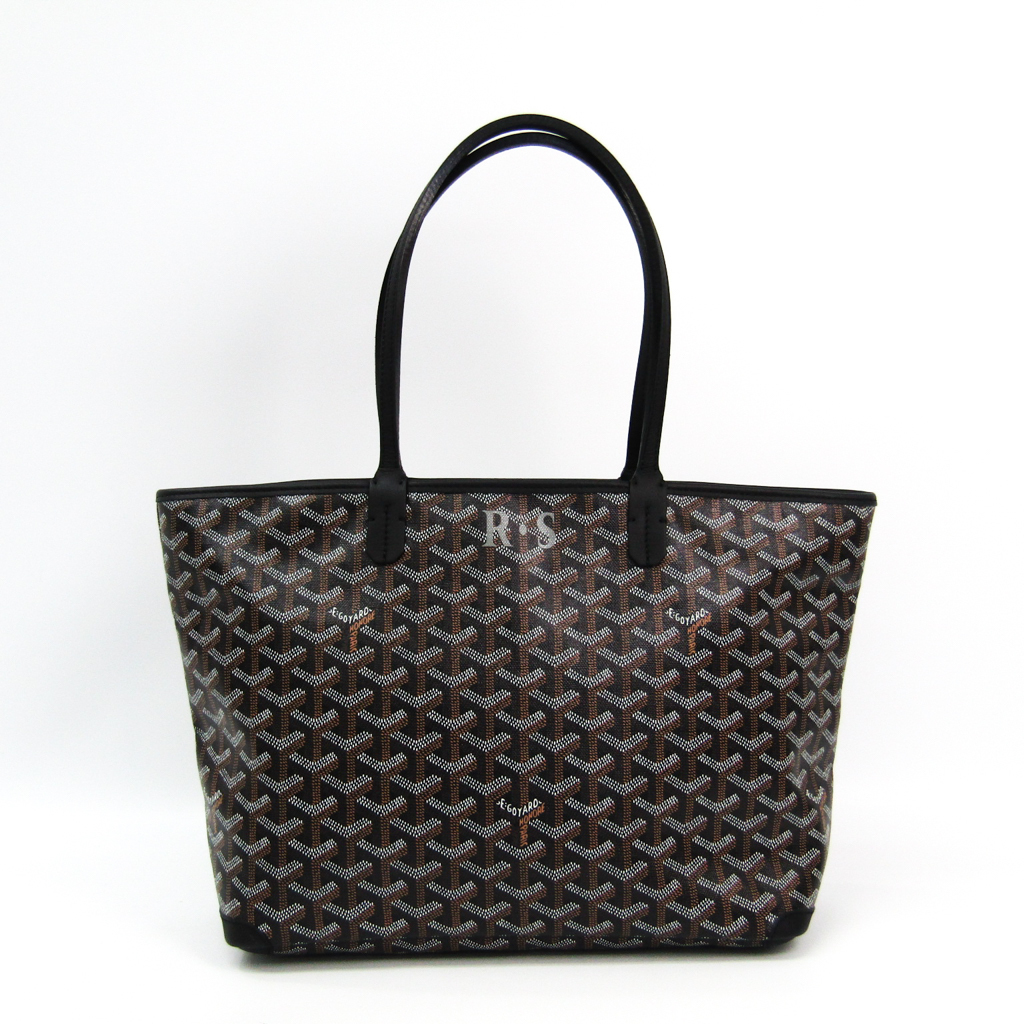 heißes Produkt marktfähig Kauf echt Details zu Goyard Artois PM Damen Canvas,Leder Tragetasche Schwarz BF328370