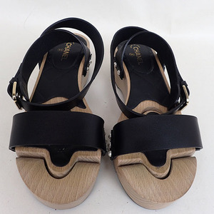 Auth Chanel WoodSandals