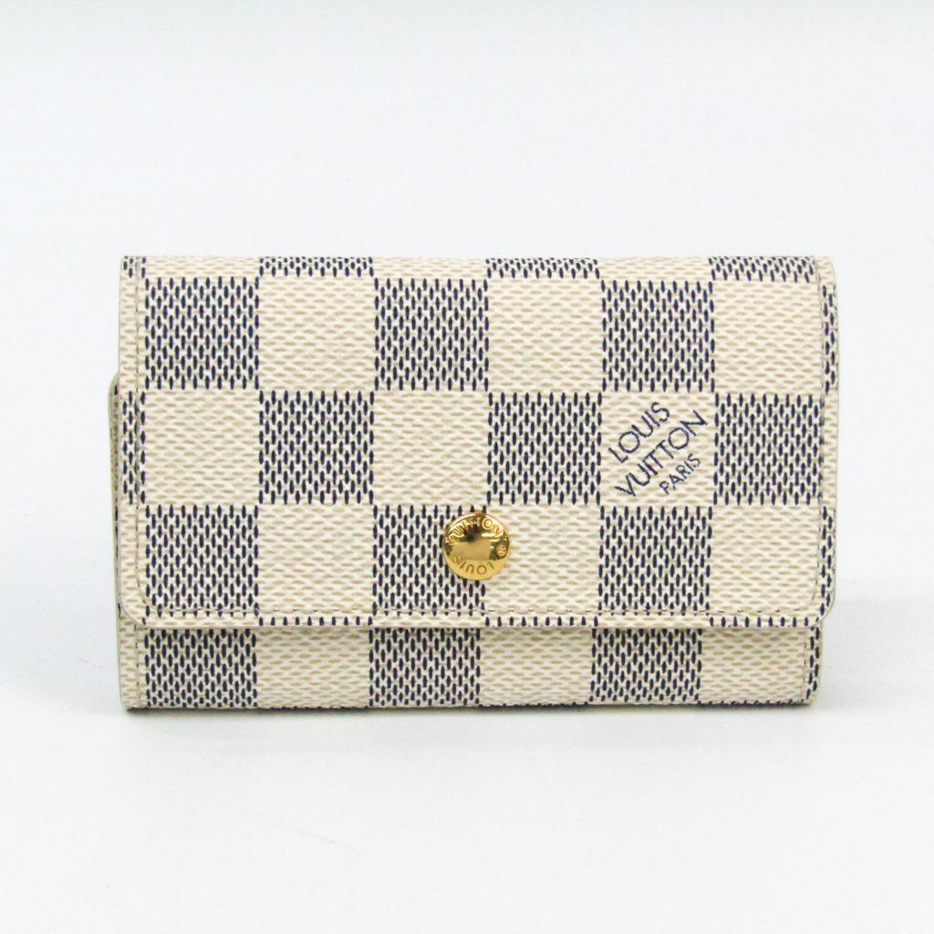2569513fd0392 Details about Louis Vuitton Damier Azur Women s Damier Azur Key Case Azur 6  Key Holde BF328496