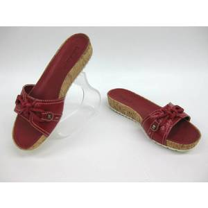 Timberland Shoes Timberland Sandals Leather × Cork Red 5.5 Women's