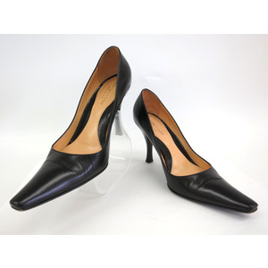 Sergio Rossi LEATHER PUMPS BLACK 36